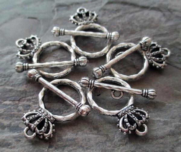 Crown Toggle Clasp Jewelry Hook Closure Necklace Bracelet