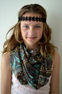 Boho Scaff Infinity Scarf Tween Teen Scarf Girls Hippie