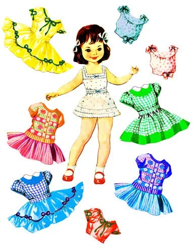 little girl paper doll clothes