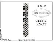 Items similar to Loom Beading Pattern Celtic Knot Bracelet