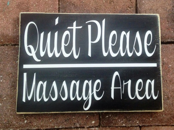 Quiet Massage Area 10x8 Choose Color Rustic Shabby