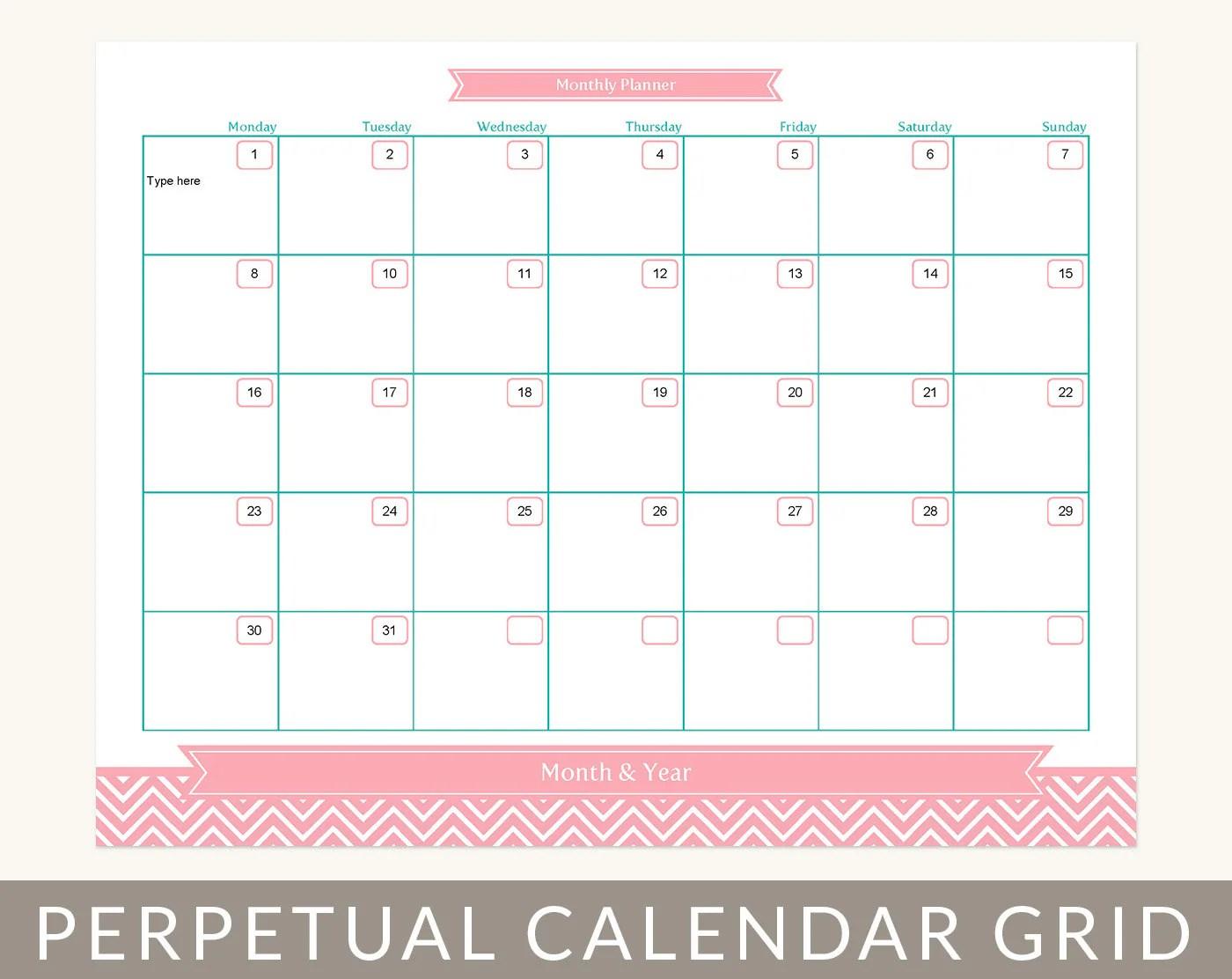 Image Result For Month At A Glance Printable Calendar