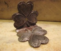 Antique Clover Leaf Design Trim Small Early 20th Century Box