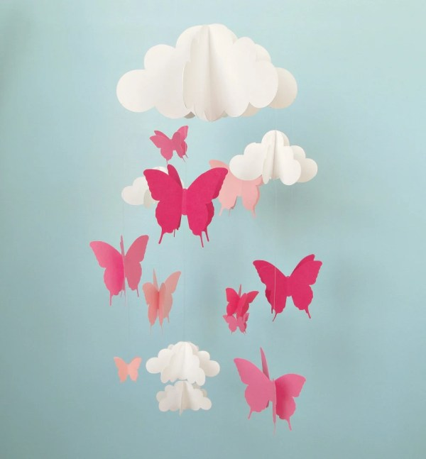 Butterfly Mobile Baby Butterflies And Cloud