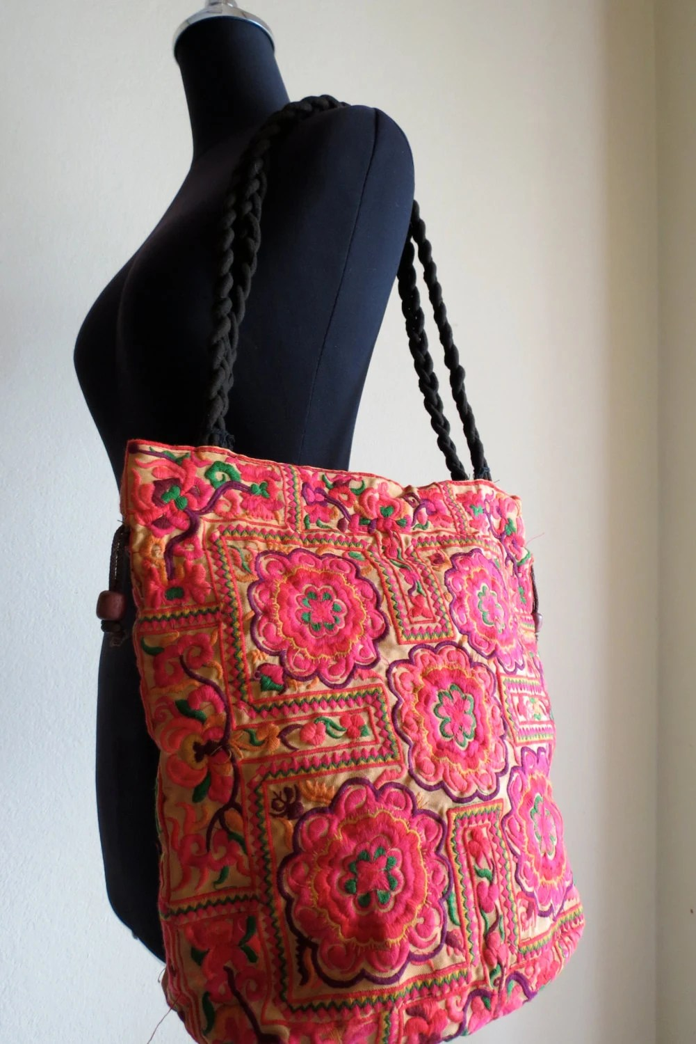 Bohemian bags tote Handbags ethnic style shoulder bags from
