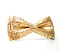 Gold glitter Bow Tie for Boys Toddlers Baby Pre-tied