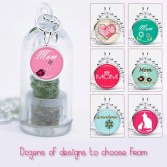 Add on - Mother's Day Charm with Silver Plated Ballchain - 30 Designs Available
