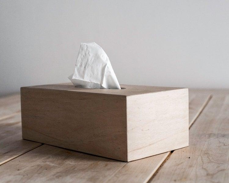 Wooden Simple Tissue Box Cover  Alder  by DesignAtelierArticle
