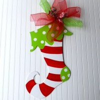 Christmas Stocking Door Hanger Christmas Decor Christmas