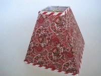 Lamp Shades: Modern Red Paisley Lamp Shade - 100% Cotton ...