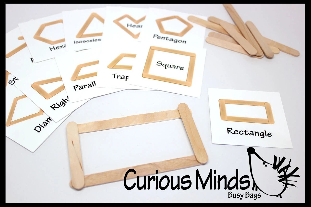 Making Shapes With Popsicle Sticks Or Plastic Snap Together