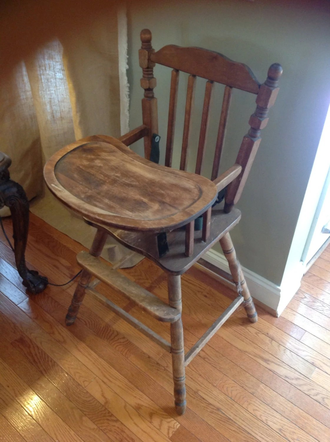 Antique Wooden Chair Antique Wood High Chair