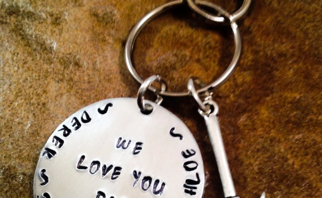 Father S Day Gift Keychain Personalized Keyring For Dad
