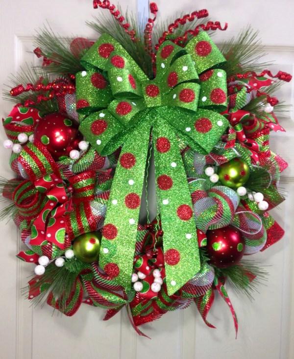 Etsy Mesh Christmas Wreaths