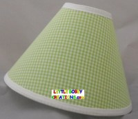 Gingham Green Fabric Lamp Shade 10 Sizes to Choose From