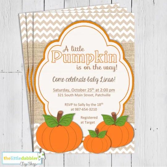 Fall Themed Invitation from thelittledabbler