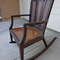 Rocking Chair Cane Replacement Patio Cushions Sale Handsome Victorian Style Rocker Glider