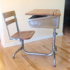 Chair Desk Combo Best For Back School Industrial Steel And Wood With