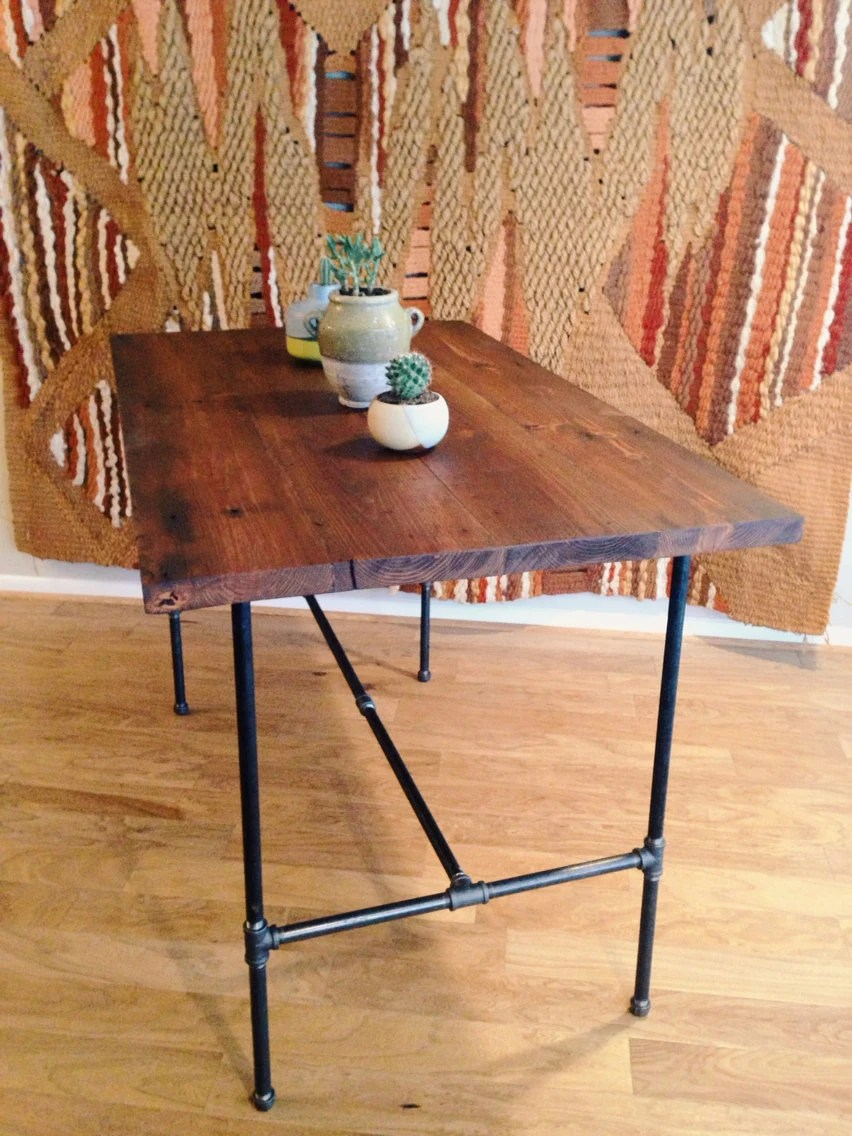 Items similar to bar height reclaimed wood dining table on Etsy
