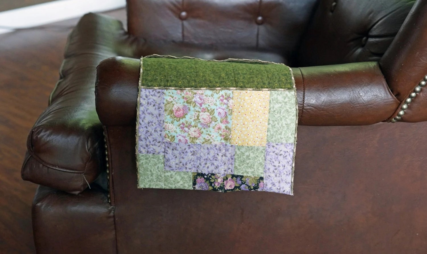 Chair Organizer Arm Chair Caddy Scrappy Quilted Style