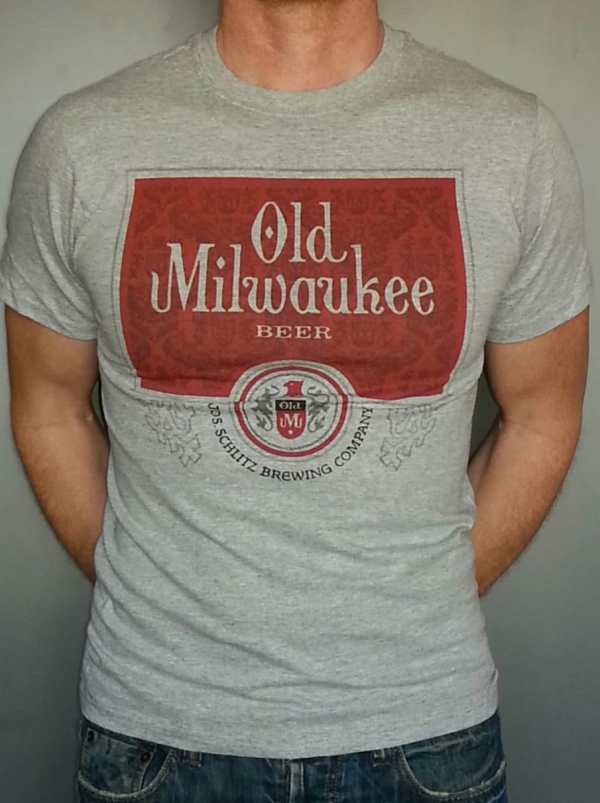 Milwaukee Beer T-shirt Vintage Style Xs-3xl Mens