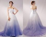 Purple Ombre Wedding Dresses
