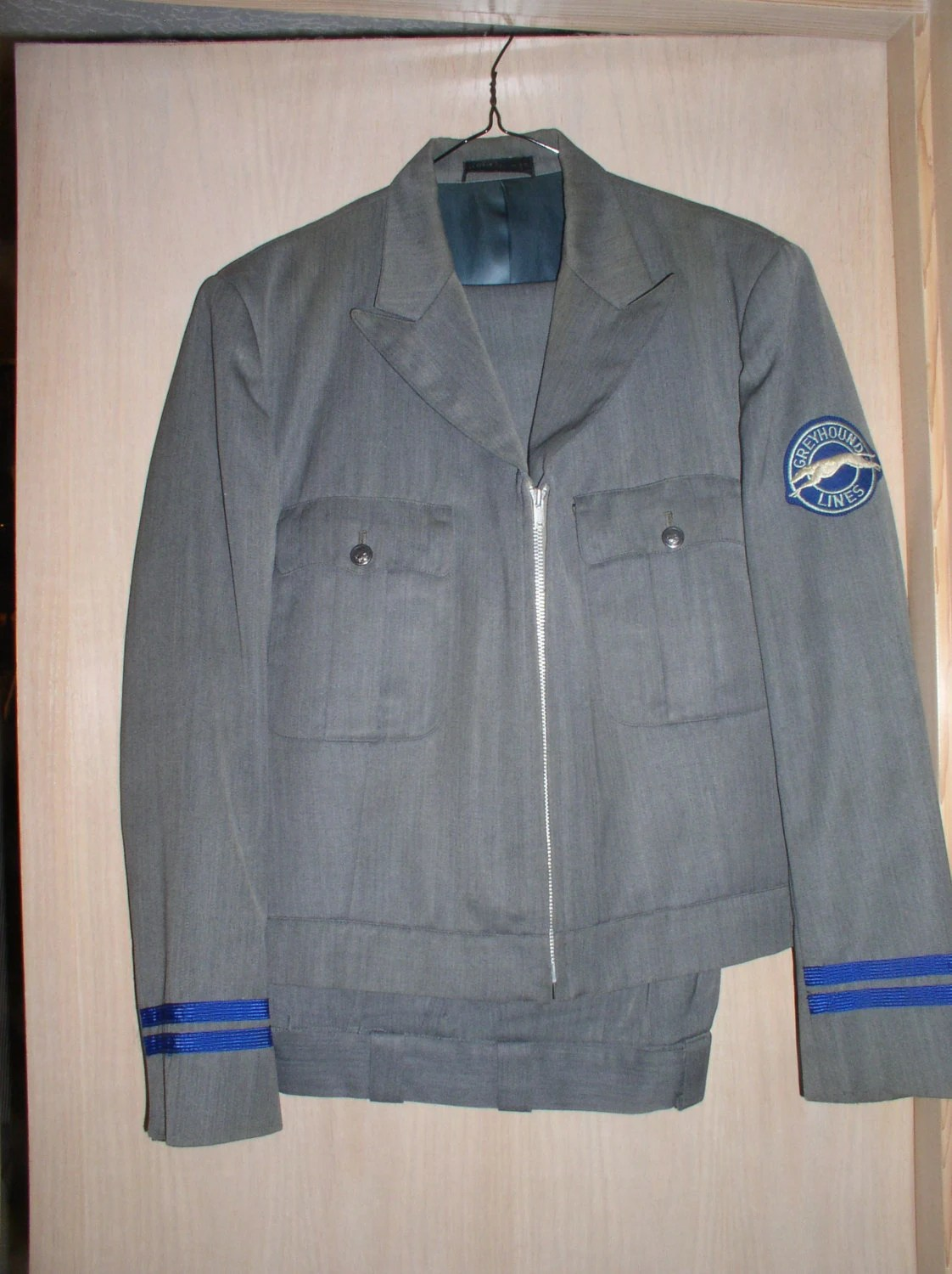 Vintage Greyhound Bus Lines Driver Uniform Excellent Jacket