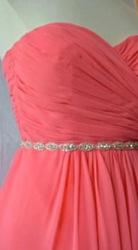 Thin Crystal Rhinestone Belt Bridesmaids Belt Bridal Belt