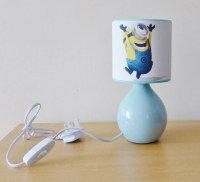 Handcrafted Despicable me minions 2 bedside by FunkyLampshades