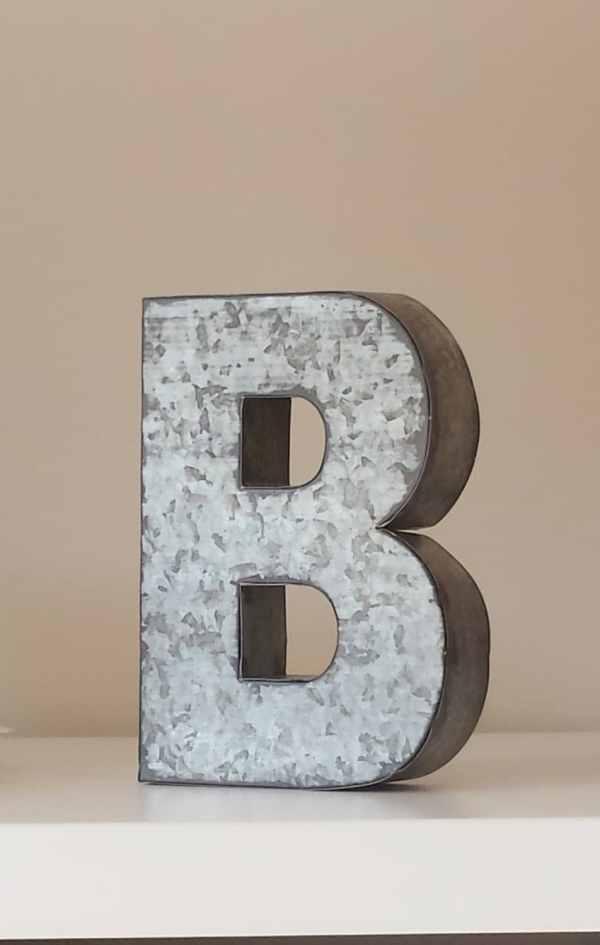 6 Large Metal Letter Zinc Steel Initial Home Room