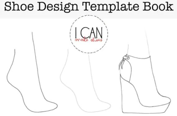 Items similar to Shoe Design Template Book on Etsy