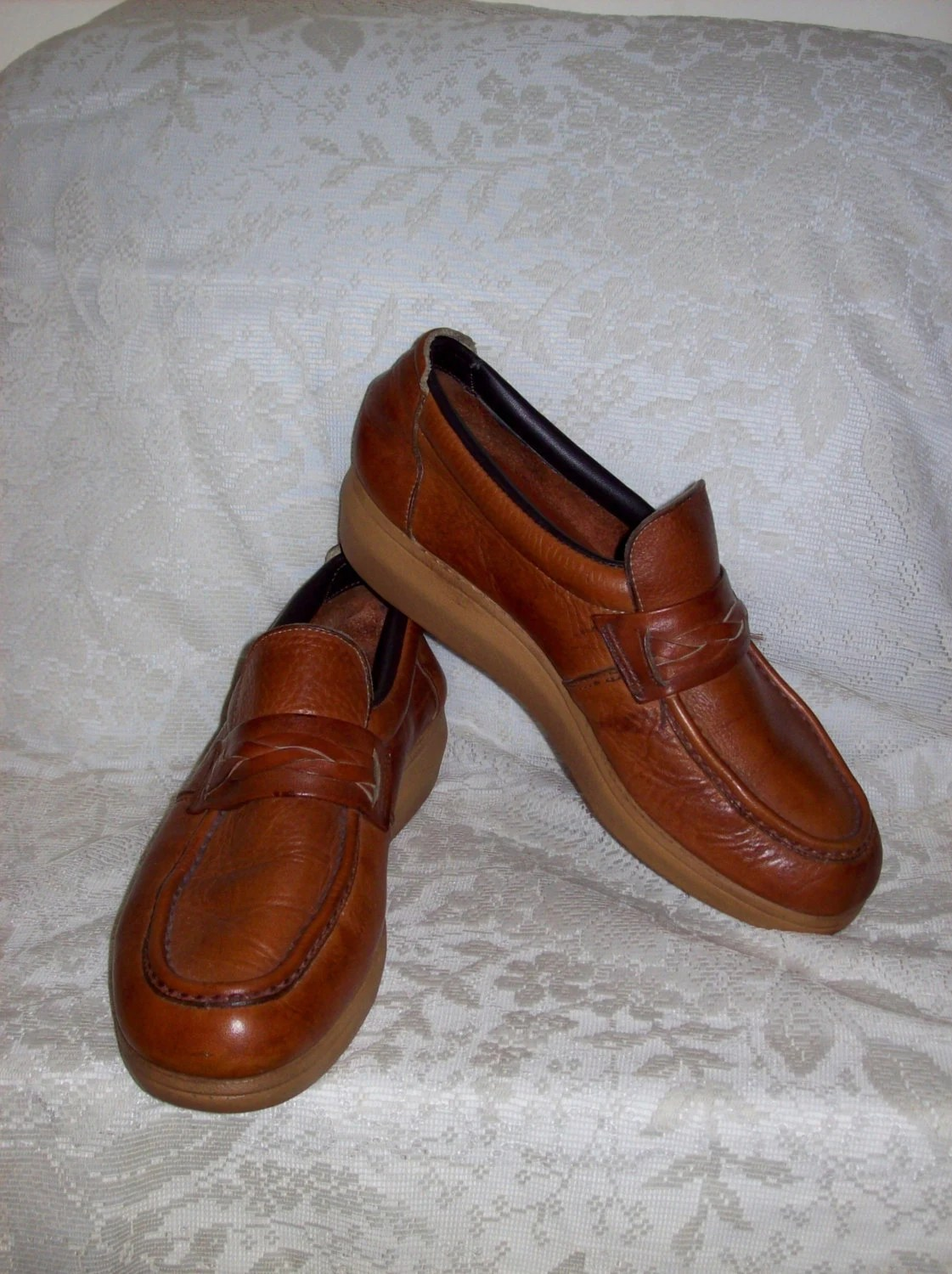 Vintage 1970s Men S Leather Shoes By Dex Size 8 1 2 Only 8