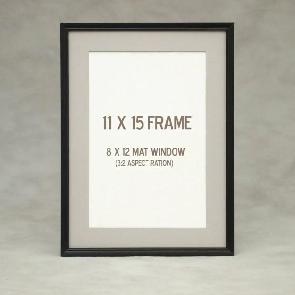 11x14 11x15 Thin Black Frame Peruvian Walnut Exotic