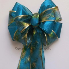 Teal Blue Chair Sashes Posture Benefits Turquoise Peacock Bow Wedding Pew