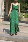 Green Wide Leg Dressy Jumpsuits