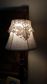 Vintage Lace Lamp Topper