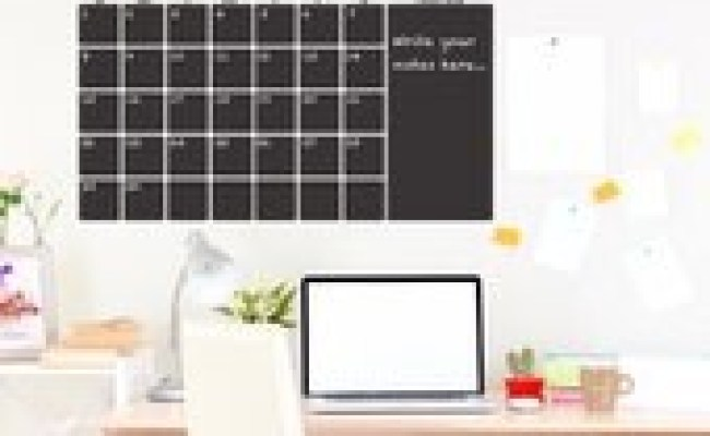 Items Similar To Chalkboard Calendar Large Wall Decal