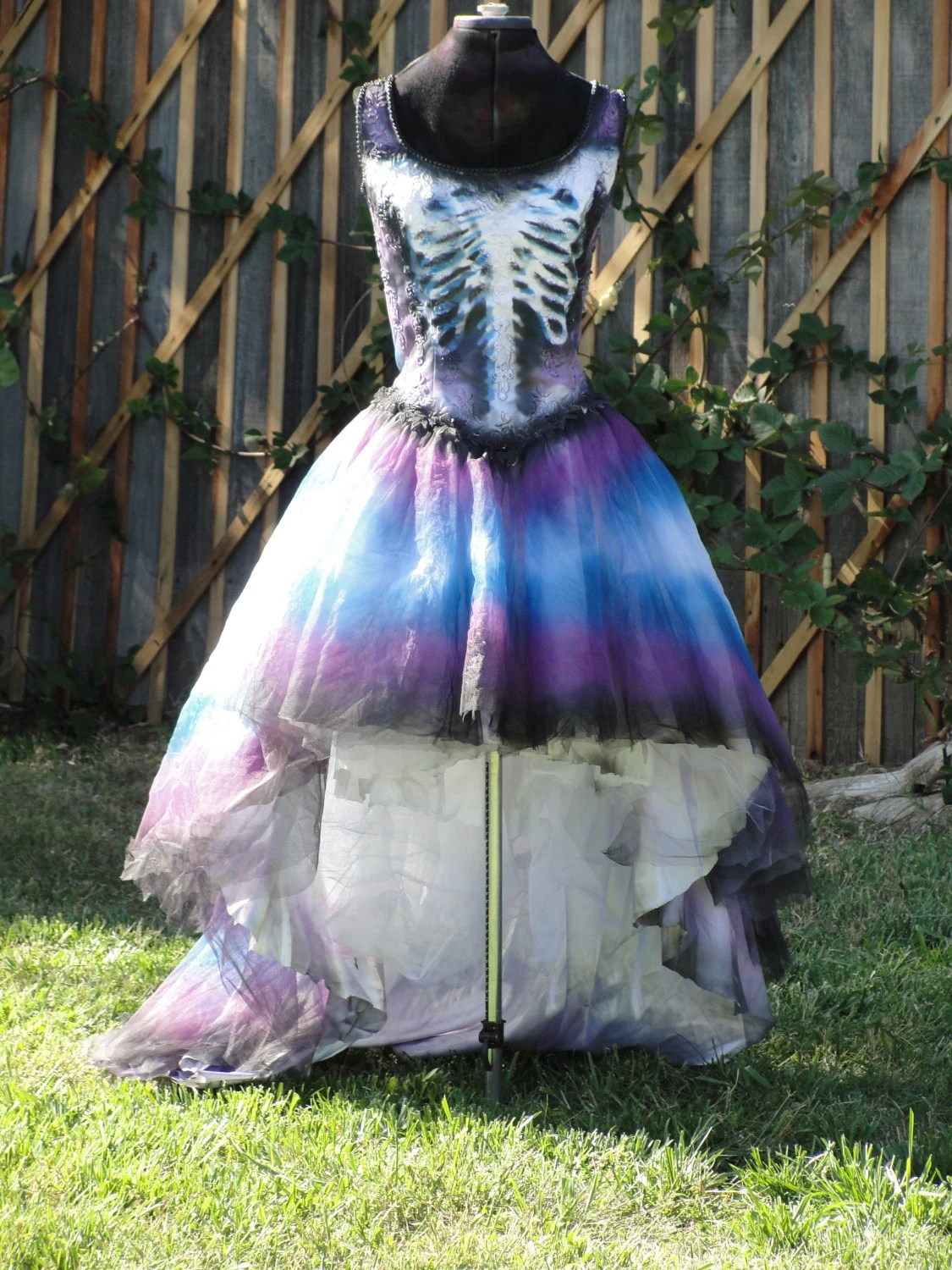 Purple And Blue Skeleton Day Of The Dead Halloween Costume