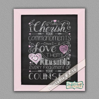 I Cherish Scripture art by JoDitt Designs