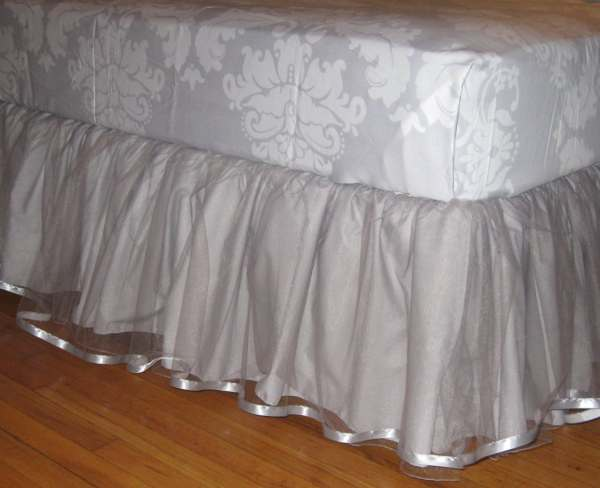 Daybed Tulle Bedskirt Select Size Multiple Colors