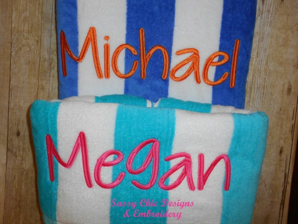 Beach Towel Pool Personalized Bridal Party