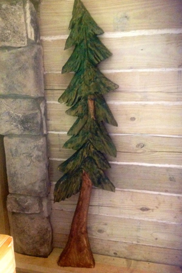 Pine Tree Sculpture 4ft. Chainsaw Carving Oceanarts10
