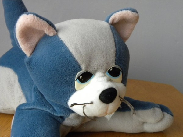 Pound Puppies Purries 11 Soft Toy Cat Blue
