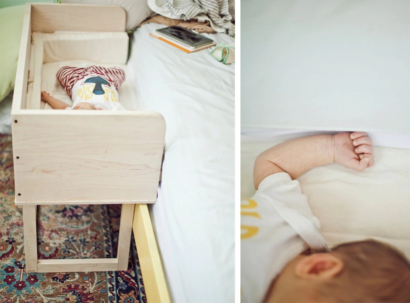 baby sleeper chair for infants to sit up custom order little mod co wooden bed w mattress