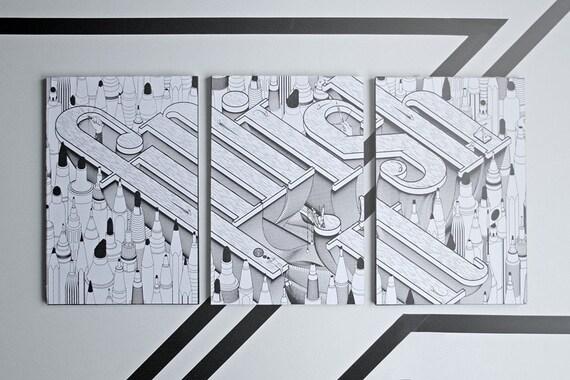 3 Piece handmade notebook set