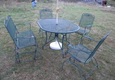 Metal Mesh Patio Chairs