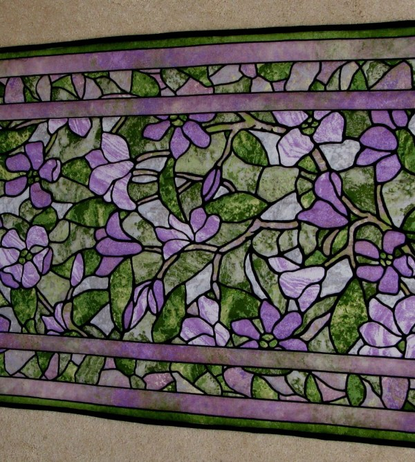 Stained Glass Quilted Wall Hanging