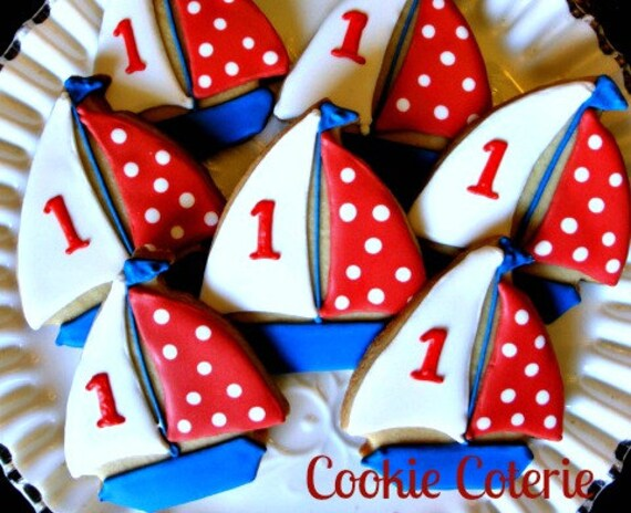 Cute Birthday Cake Wallpapers Sailboat Cookies Nautical Decorated Cookies Birthday Party