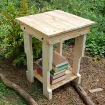 End Table Side Pallet Reclaim Wood Nightstand