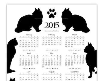 Popular items for calendar printable on Etsy